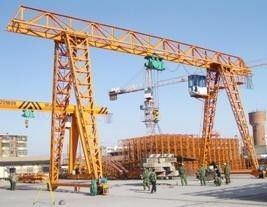 MH Type Single Girder Gantry Crane , Truss Gantry Crane With Electric Hoist