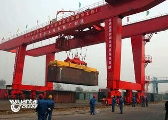 Seaport Red Container Gantry Crane Less Travel Distance Easy Operation